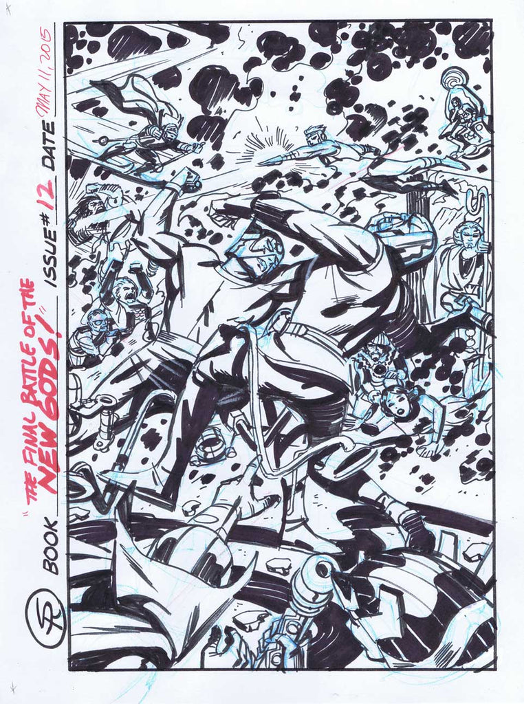 New Gods 12 Cover Rough