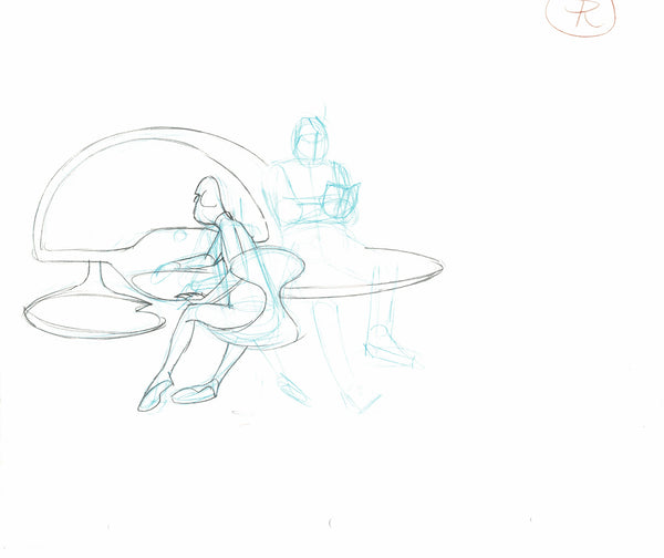 Dave & Fuerzo Spaceship Bridge Scene Rough -Animation Art