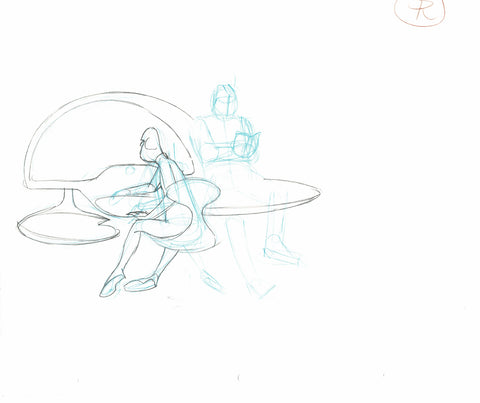 Spaceship Bridge Scene Rough -Animation Art