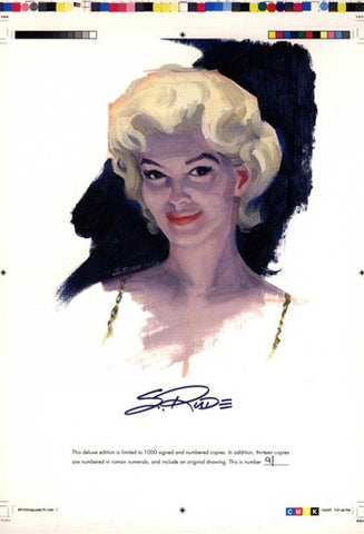 Marilyn Monroe Bookplate Print