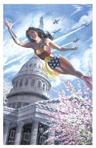 Wonder Woman over DC Print