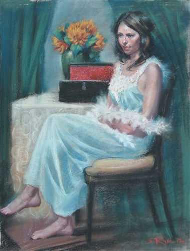 """Red Box"" Pastel Original Painting"