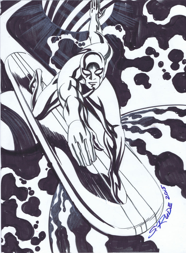 Silver Surfer Copic Marker Sketch