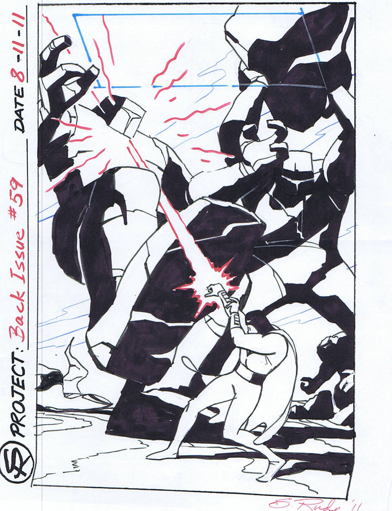 Back Issue #59 Space Ghost Cover Rough