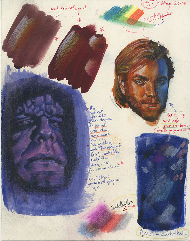 Star Wars Painted Studies and Trials w/Notes