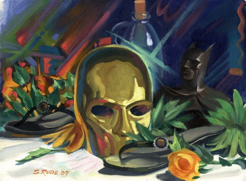 Still Life w/Mask & Batman