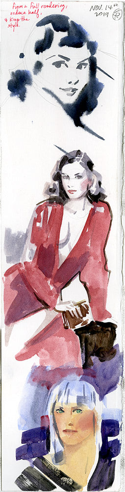 David Downton Study Double Sided