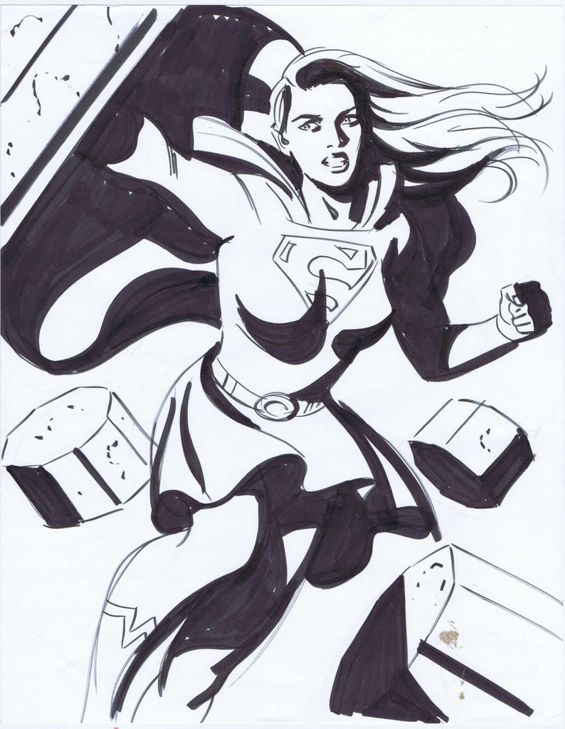 Supergirl Copic Marker Sketch