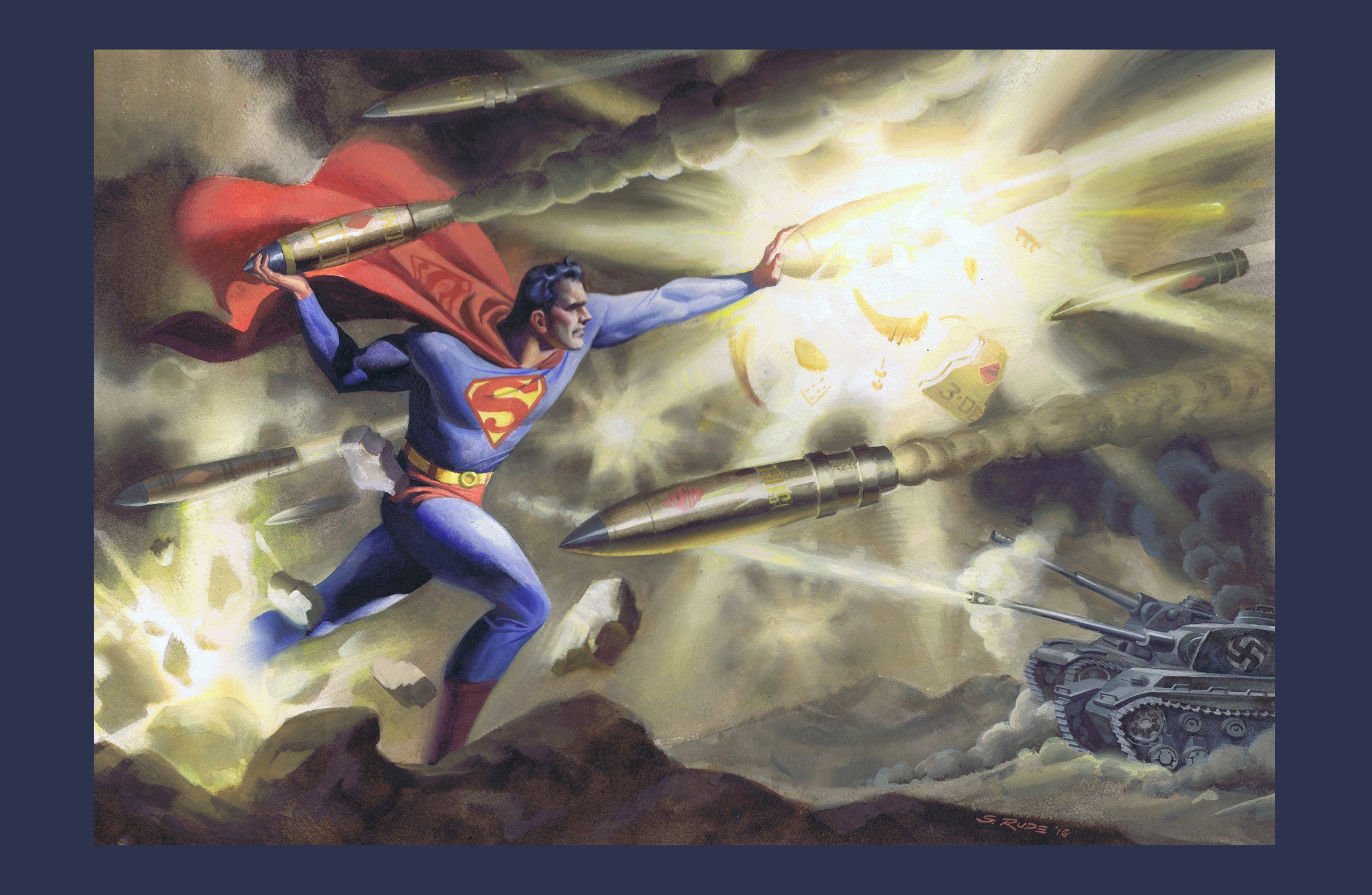 Superman / World War II LE Print