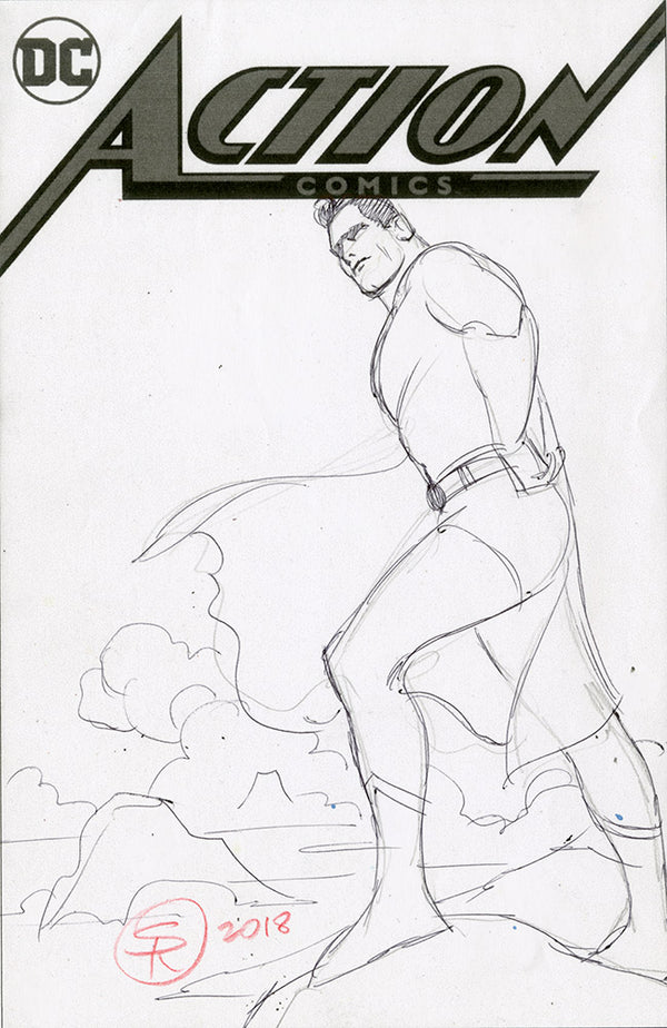 Superman Action 1004 Cover Rough Idea