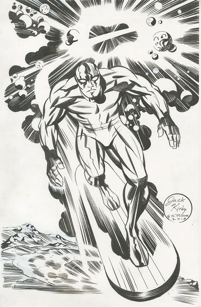 Silver Surfer Pen and Ink on Illustration Paper
