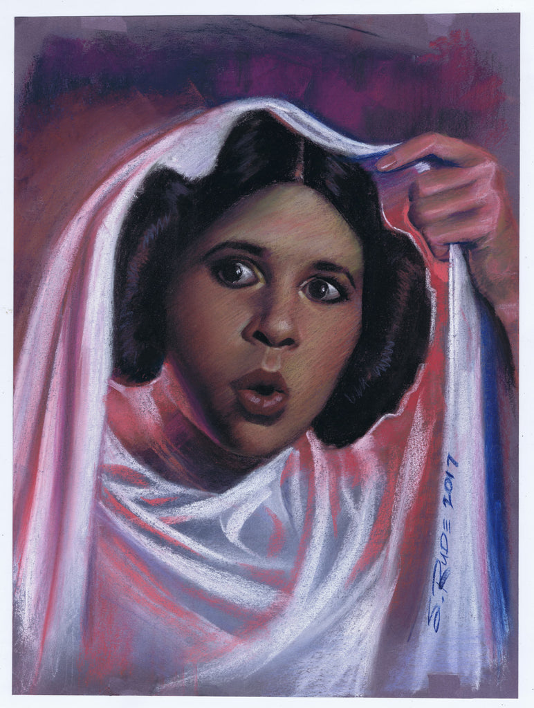 Princess Leia Pastel Painting-BIG