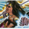 "Wonder Woman Gal Godot ""Punch"" Pinup Painting"