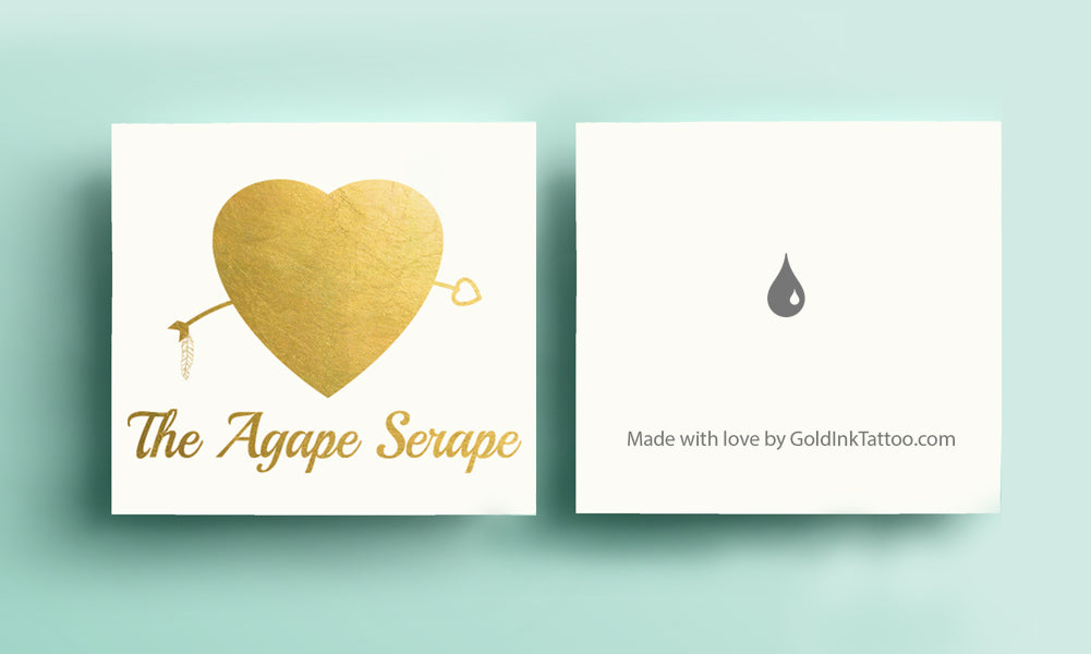 The Agape Serappe Metallic Gold Temporary Flash Tattoos