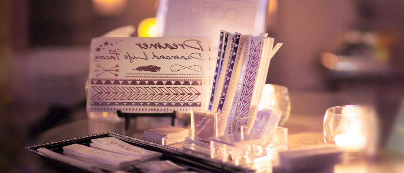 Metallic Flash Temporary Tattoo Bar for Event Entertainment