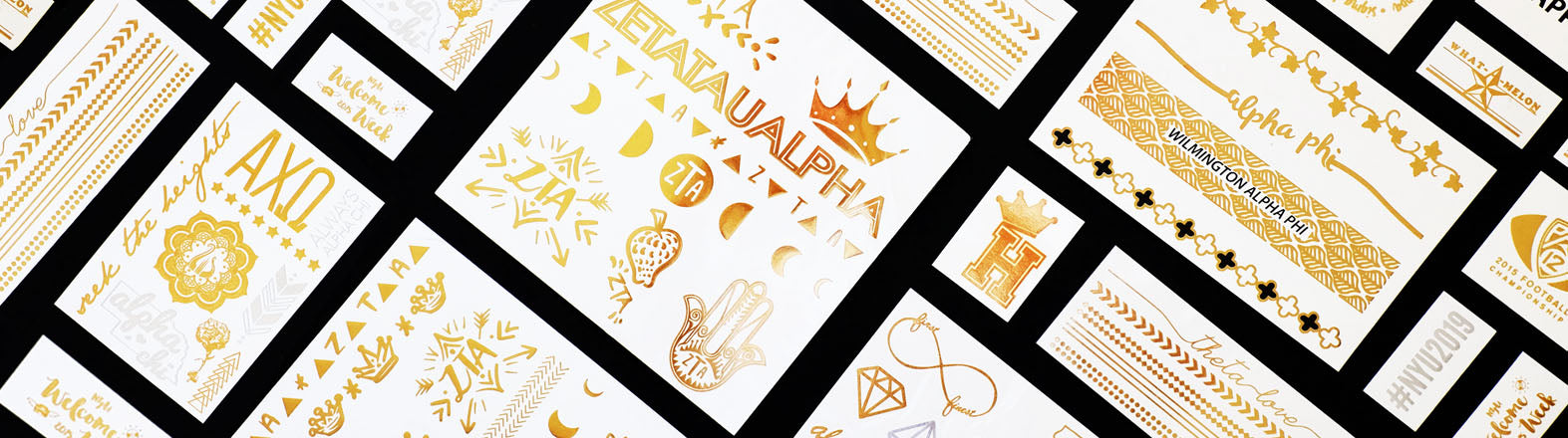 example of custom flash tattoos for sorority events