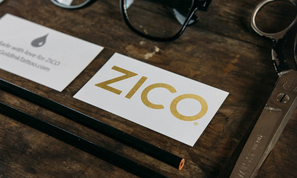 Zico Beverages Metallic Gold Temporary Flash Tattoos