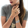 Native Wild Metallic Flash Jewelry Tattoo Bracelets Gold Silver