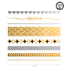 Custom metallic flash temporary tattoo for sorority bid day, Alpha Delta Pi Greek Life