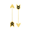Love Arrows Hearts Geometric Metallic Temporary Flash Tattoo