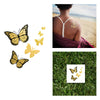 Gold And Black Butterfly Monarch Flash Temporary Metallic Gold Tattoo