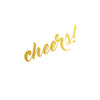 Cheers Party Metallic Temporary Tattoo, Party Flash Tattoo