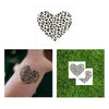 cheetah metallic temporary tattoo, metallic gold and black temporary tattoo, tropical cheetah animal print flash tattoo