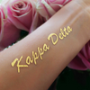 Custom metallic flash temporary tattoo for sorority bid day, Kappa Delta Greek Life