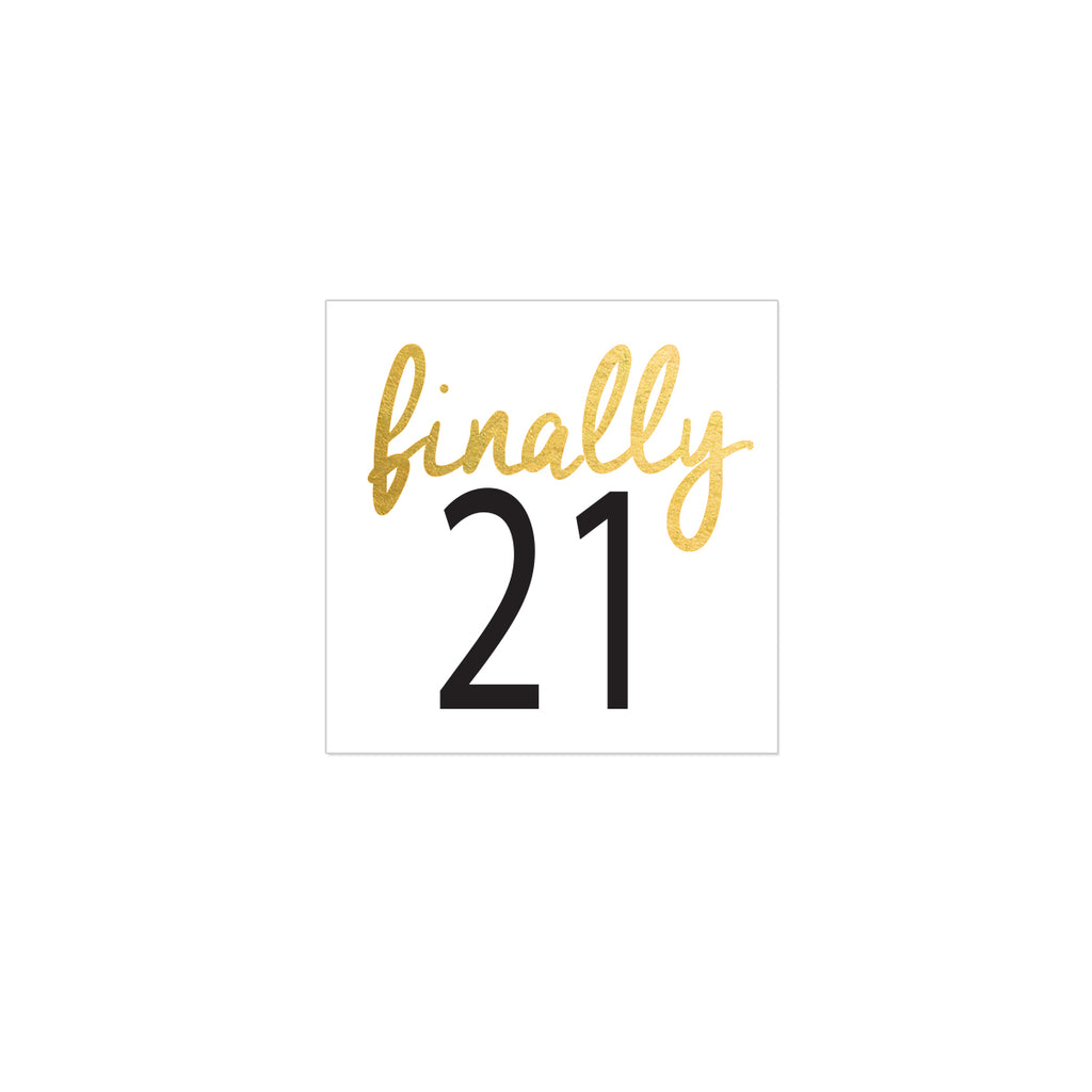 21st birthday party temporary tattoo, metallic gold flash tattoo, birthday tattoo silver, finally 21 tattoo