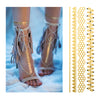 Honeycomb Geometric Beyonce Flash Tattoos, Bracelets Metallic Temporary Tattoos