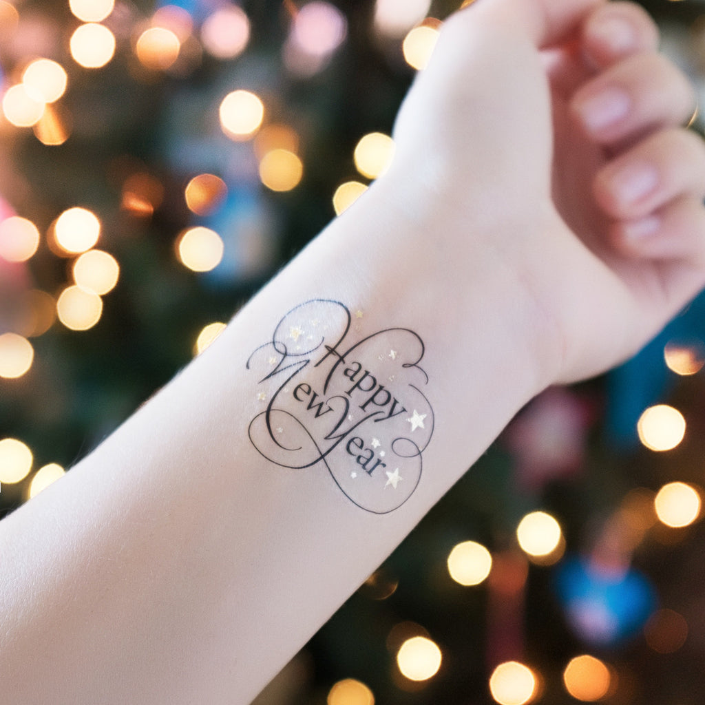 d5e334a55065a Happy New Year Flash Tattoos | Gold Ink Tattoo