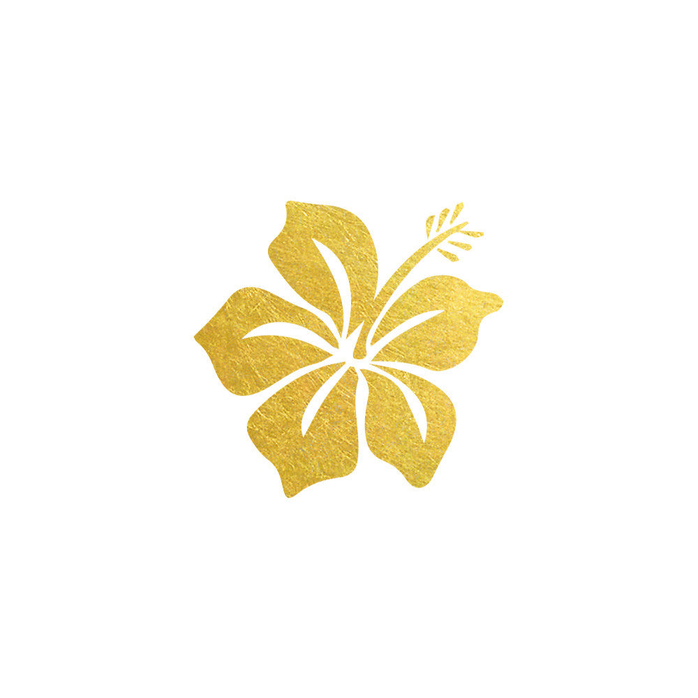 Gold hawaiian flower metallic temporary tropical party flash tattoo gold hawaiian flower flash tattoo tropical metallic temporary tattoo beach flash tattoo tropical izmirmasajfo