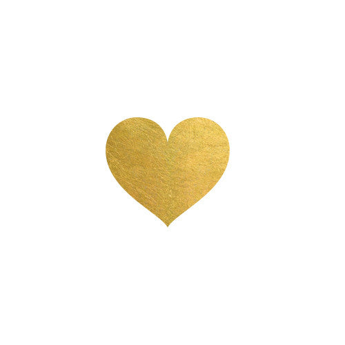 Heart of Gold Flash tattoo, Metallic Temporary Tattoo ...