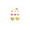 flash tattoo heart love, Gold Metallic Temporary tattoo,pink temporary tattoo