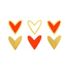 gold and red hearts metallic temporary tattoo wedding bridesmaids