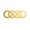 Revenge Double Infinity Gold Metallic Flash Temporary Tattoo Emily Thorne Amanda Clark