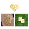 leopard heart temporary tattoo, leopard love metallic temporary flash tattoo in gold with kiss