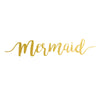 Mermaid Flash Tattoo in gold metallic