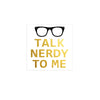 Fun Talk Nerdy To Me Gold Metallic Temporary Flash Tattoo