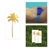 desert tropical party favor, palm tree temporary tattoo in metallic gold, palm springs party theme gift