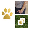metallic temporary tattoo gold paw men