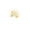 gold rose flower floral flash tattoo metallic temporary skin jewelry tattoo