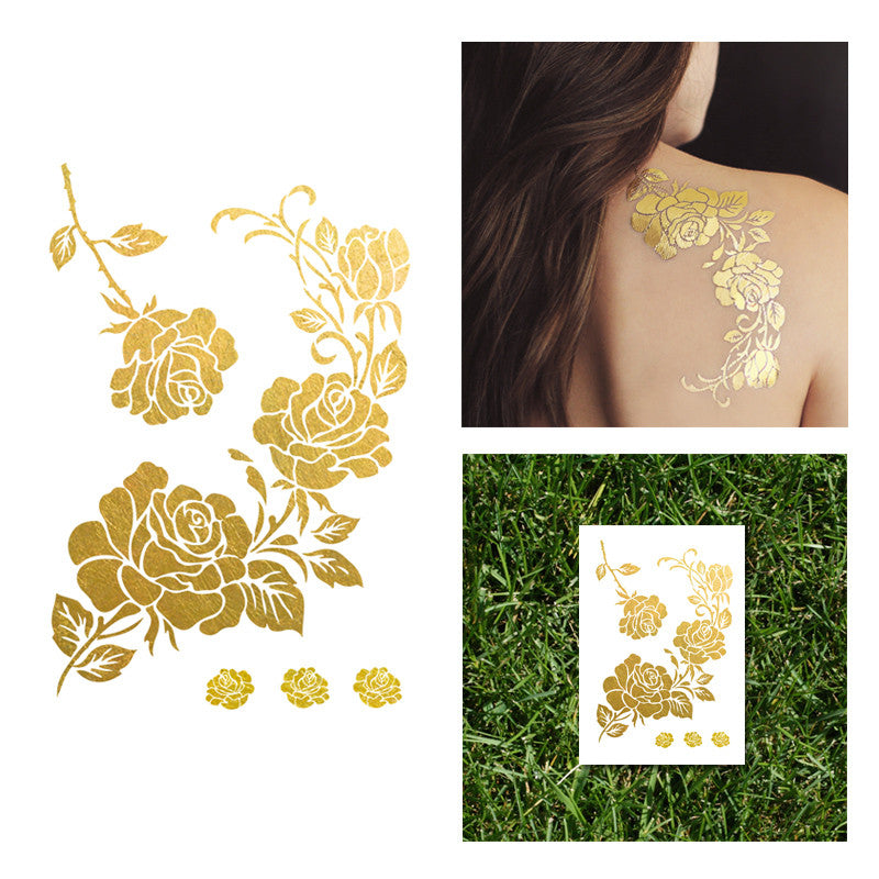 Gold Rose Flash tattoo by goldinktattoo