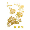 Gold Rose Metallic Temporary Flash Tattoo