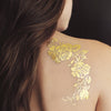 Gold Rose Metallic Temporary Tattoo Set