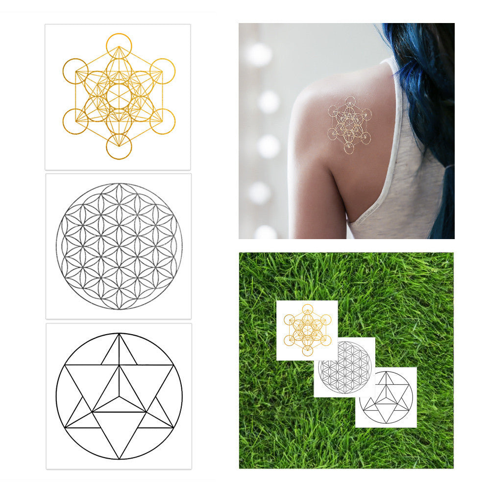 Sacred Geometry Glow-In-Dark Set