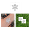Snowflake metallic temporary tattoo party set, pre-cut silver flash tattoos for holiday decor and gifts
