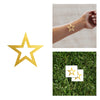 gold Star metallic temporary tattoos, party tattoo, custom metallic tattoo, custom party flash tattoo