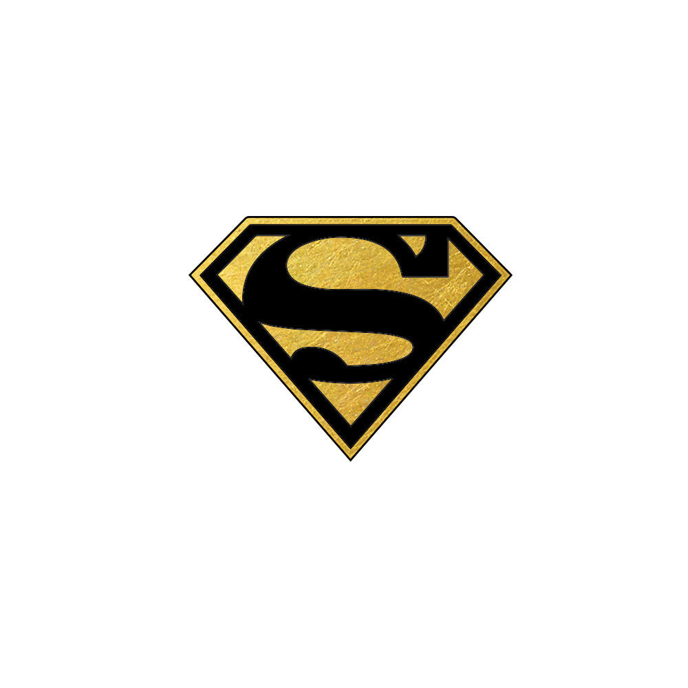 Superman Metallic Temporary Tattoo, Superman Men Gift Tattoo, Flash Tattoo Party Superheroes
