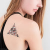 Geometric Floral Temporary Flash Tattoo of Peony Flower